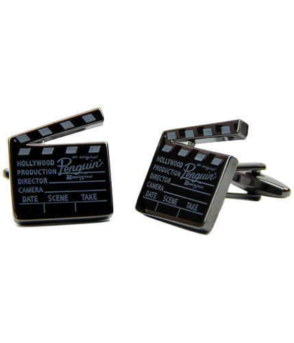 ORIGINAL PENGUIN RETRO CLAPPER BOARD CUFF LINKS