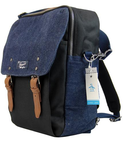 ORIGINAL PENGUIN DENOOK RETRO DENIM BOOK BAG