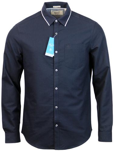 ORIGINAL PENGUIN DRIVE RETRO EARL COLLAR SHIRT