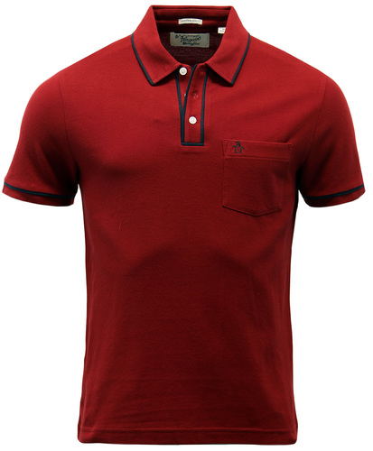 ORIGINAL PENGUIN EARL RETRO MOD TIPPED POLO