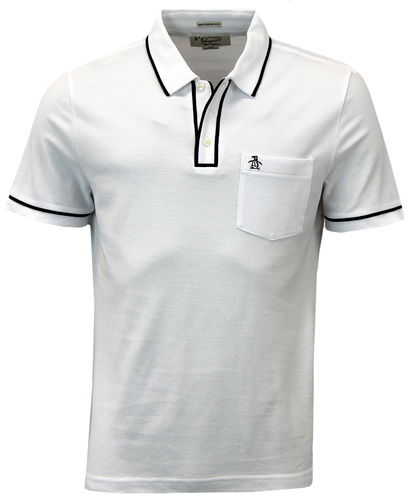 ORIGINAL PENGUIN EARL RETRO MOD 60S TIPPED POLO