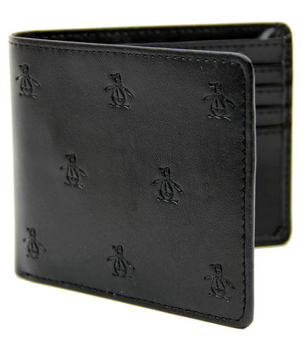 ORIGINAL PENGUIN RETRO MOD EMBOSSED LOGO WALLET