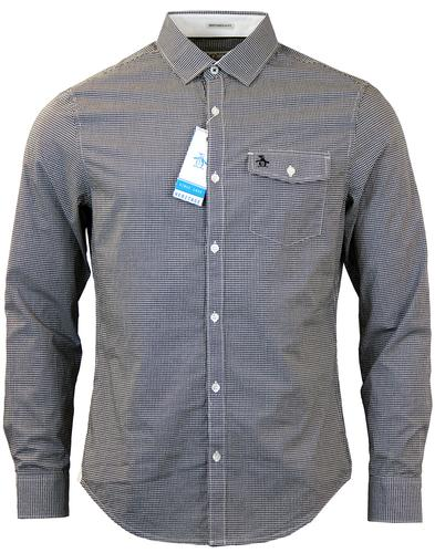 ORIGINAL PENGUIN FACADE GINGHAM SHIRT BLACK