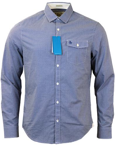 ORIGINAL PENGUIN FACADE GINGHAM SHIRT BLUE