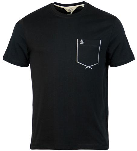 ORIGINAL PENGUIN FLATLOCK RETRO MOD POCKET TEE