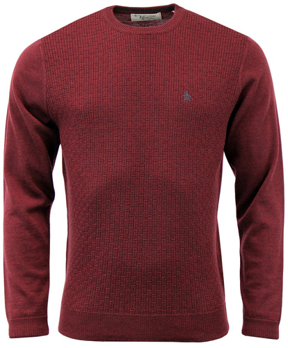 ORIGINAL PENGUIN MENS KNITTED BASKET WEAVE JUMPER