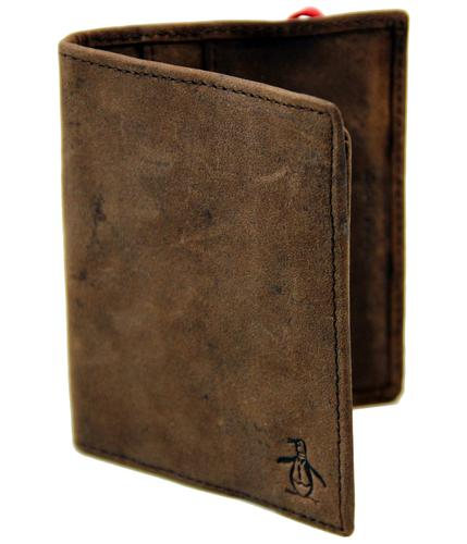 ORIGINAL PENGUIN RETRO MOD LEATHER BI FOLD WALLET