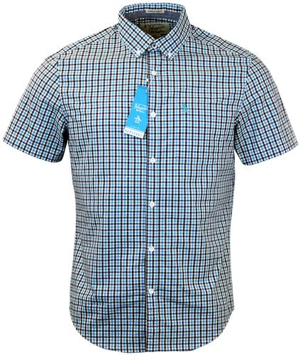 ORIGINAL PENGUIN LOOSE TRI COLOUR GINGHAM SHIRT