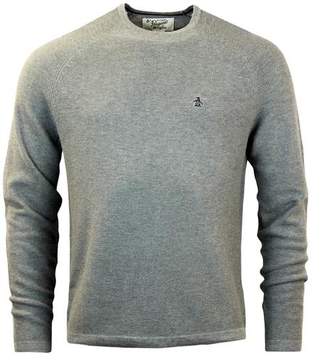 ORIGINAL PENGUIN MASON RETRO LINK STITCH JUMPER