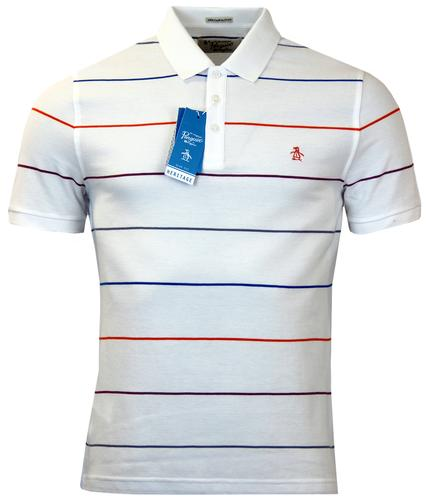 ORIGINAL PENGUIN RETRO MOD FINE POP STRIPE POLO