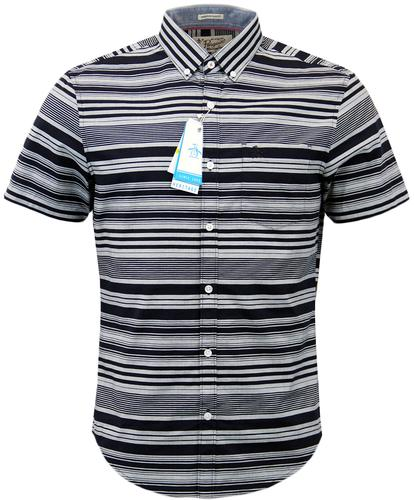 ORIGINAL PENGUIN SKETCH RETRO MOD STRIPE SHIRT