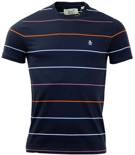 ORIGINAL PENGUIN WHITTLE COLOUR POP STRIPE TEE DS