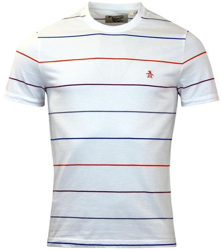 ORIGINAL PENGUIN WHITTLE COLOUR POP STRIPE TEE W
