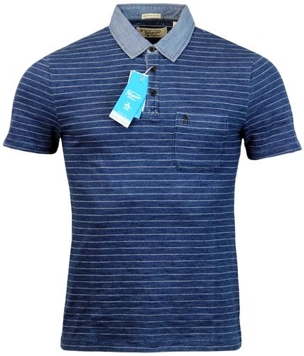 ORIGINAL PENGUIN TIMOR RETRO FINE STRIPE POLO