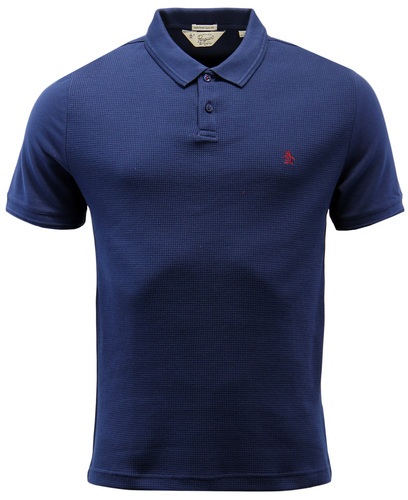 ORIGINAL PENGUIN WINSTON SHORT SLEEVE WAFFLE POLO