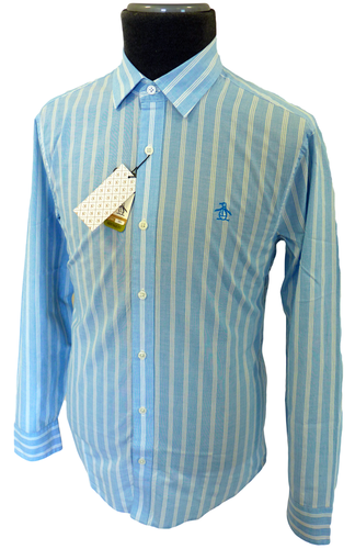 ORIGINAL PENGUIN MENS RETRO FIFTIES SHIRT STRIPE