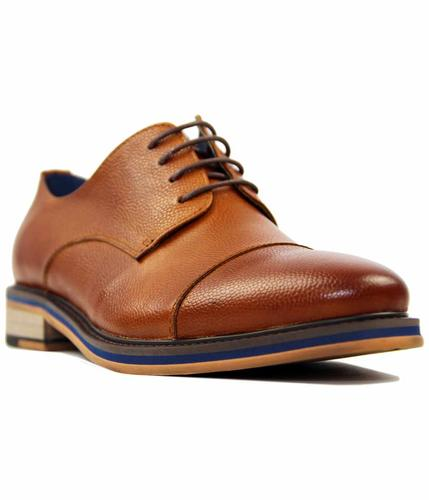 PAOLO VANDINI NASH LEATHER RETRO SHOES TAN