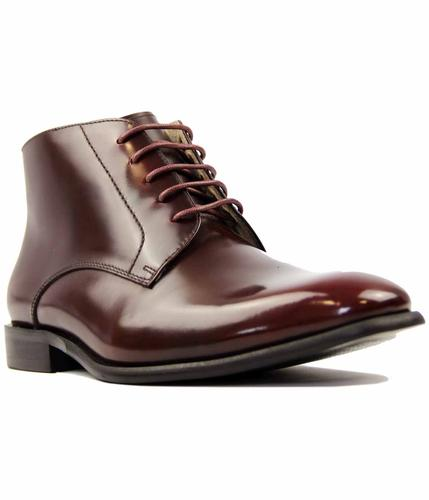 PAOLO VANDINI HIGH SHINE NAVARINO LEATHER BOOTS
