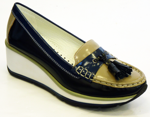 PATRICK COX GEOX WOMENS TASSEL LOAFER SHOES MOD