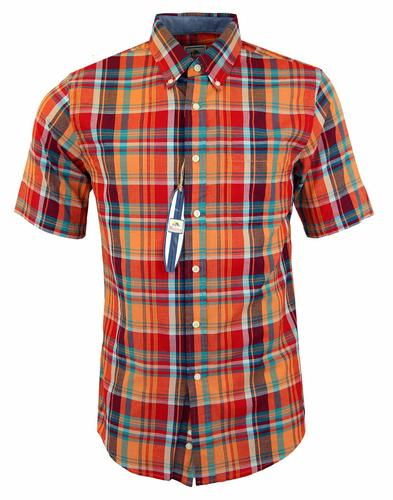 PENDLETON SURF ORANGE CHECKED SHIRT