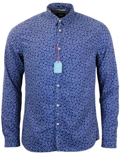 Belgrave PEPE JEANS Retro Micro Sun Print Shirt