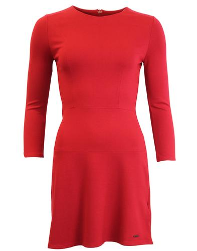PEPE JEANS FREDA RETRO 60S PANEL DRESS RED