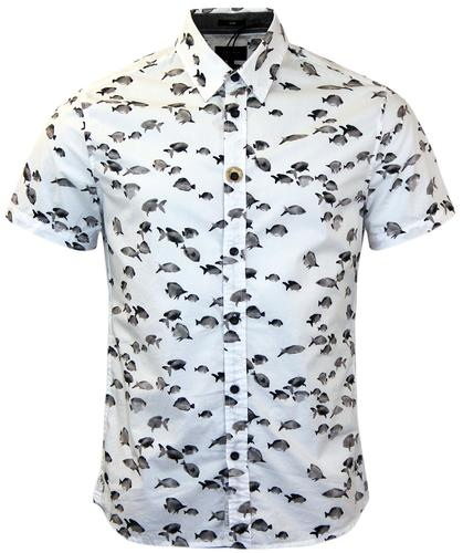 PEPE JEANS HOLDEN RETRO FISH PRINT SHIRT