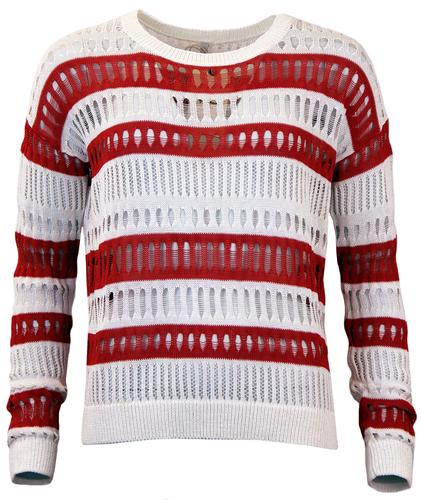 PEPE JEANS RETRO HOLE DETAILING KNITTED JUMPER