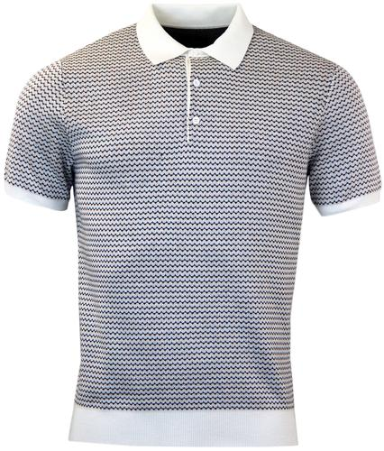 PETER WERTH COSWAY RETRO GEOMETRIC T KNITTED POLO