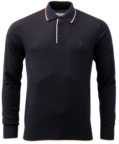 PETER WERTH CRISTO 1960S MOD TIPPED KNITTED POLO