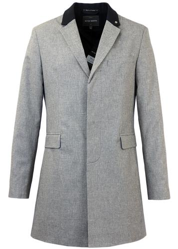 PETER WERTH CROPLEY MADE IN ENGLAND MARBLE TOPCOAT