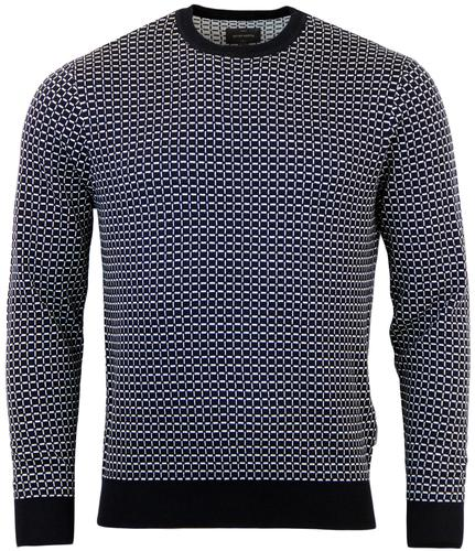 PETER WERTH ELDER RETRO MOD KNITTED JUMPER
