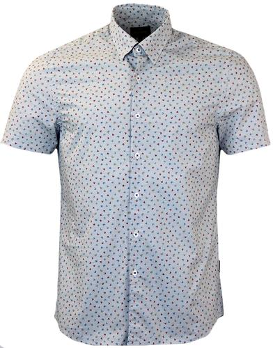 PETER WERTH PARADE RETRO BUTTERFLY PRINT SHIRT