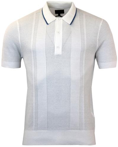 PETER WERTH WALTON RETRO MOD WAFFLE KNITTED POLO