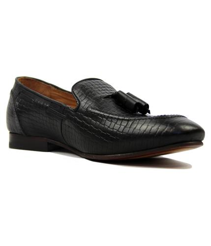 Pierre HUDSON Retro Mod Stamp Weave Loafers