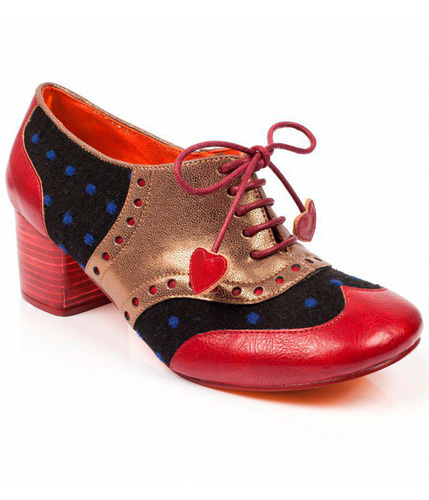 POETIC LICENCE CLARA BOW RETRO POLKA BROGUE HEELS