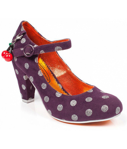 POETIC LICENCE RIGHT STRIPES 1960S POLKA DOT HEELS