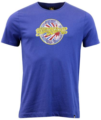 PRETTY GREEN BOSTON RETRO MOD PAISLEY PRINT TEE