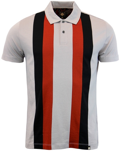 PRETTY GREEN BRINDLE RETRO 60S MOD PANEL POLO