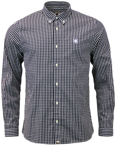 Ebsworth PRETTY GREEN Retro Mod 60s Gingham Shirt