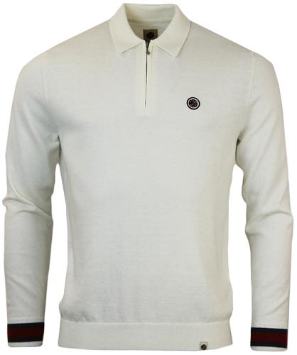 PRETTY GREEN FERNBANK RETRO MOD ZIP PLACKET POLO