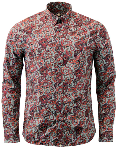 PRETTY GREEN HORNCHURCH SIXTIES MOD PAISLEY SHIRT