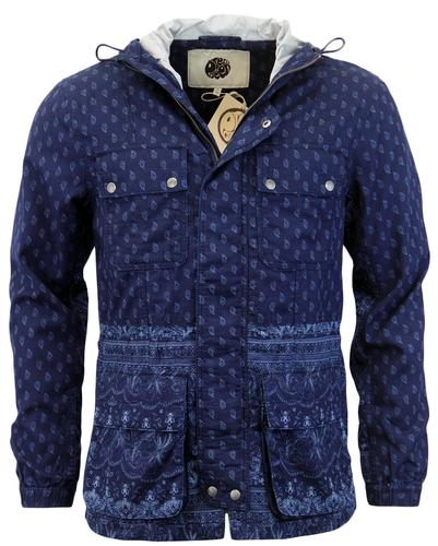 PRETTY GREEN TARBET RETRO PAISLEY MILITARY JACKET