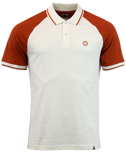 PRETTY GREEN WILTON 1960S MOD CONTRAST RAGLAN POLO