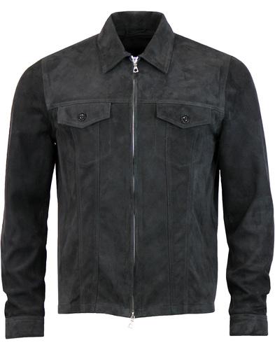 Broadwick PRETTY GREEN Black Label Suede Jacket B