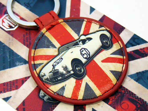 MG Car Keyring - Union Jack Retro Mod Gift Idea
