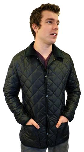 'Baron' - Mens Retro Indie Mod Quilted Jacket (B)