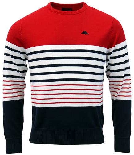 Talbor ROBE DI KAPPA Retro 80s Stripe Knit Jumper