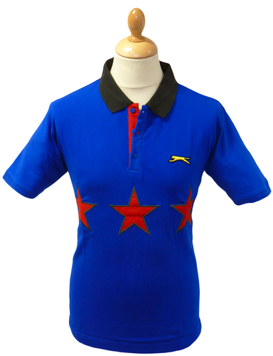 SLAZENGER HERITAGE FGOLD THREE STAR RETRO MOD POLO