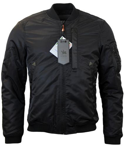 SPIEWALK BOMBER FLIGHT RETRO JACKET BLACK